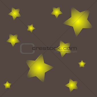 Abstract gray background with stars