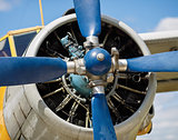 Airplane propeller close-up