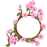 Floral Frame With Sakura