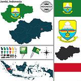 Map of Jambi, Indonesia