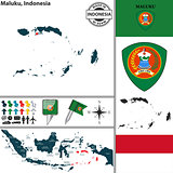 Map of Maluku, Indonesia