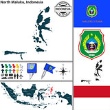 Map of North Maluku, Indonesia