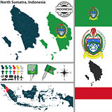 Map of North Sumatra, Indonesia