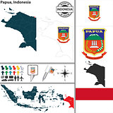 Map of Papua, Indonesia