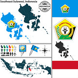 Map of Southeast Sulawesi, Indonesia