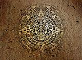 Mayan calendar on old stone