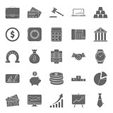 Bisiness and finance silhouettes icons set
