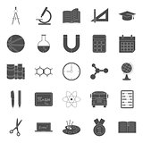 Education and school silhouettes icons set