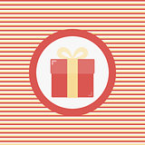 Giftbox color flat icon