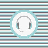 Headset color flat icon
