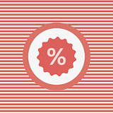Percent label color flat icon