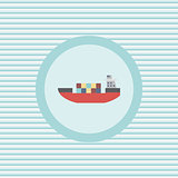 Ship color flat icon