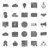 Seo and e-marketing silhouetetes icon set