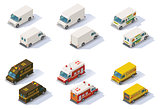 Vector isometric step vans set