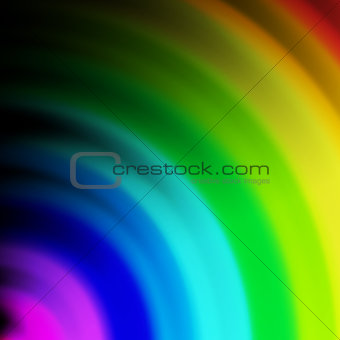 Abstract rainbow colours on a  background