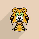 Tiger cartoon face