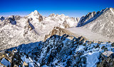 Winter mountains panorama in High Tatras, Slovakia