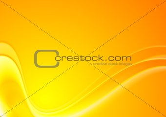 Abstract yellow orange wavy vector background