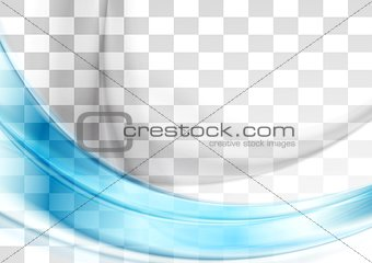 Abstract blue transparent vector waves