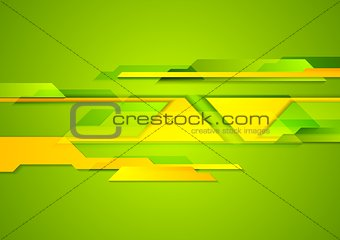 Bright geometric shapes tech background