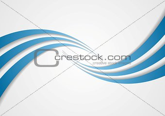 Abstract blue wavy design
