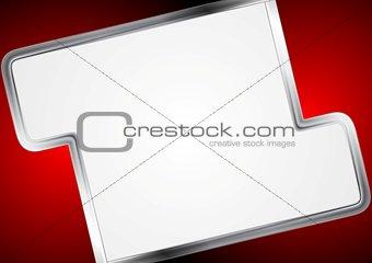 Abstract metallic design