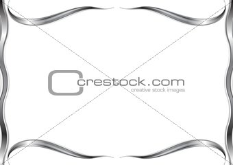Abstract wavy pattern frame
