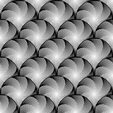 Design seamless monochrome circular pattern