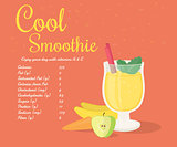 Yellow cool smoothie