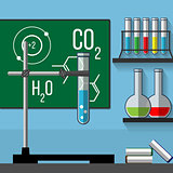 Chemistry classroom.