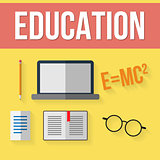 Set of education elements.