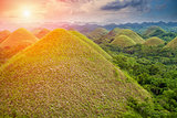 Beautiful Chocolate Hills in Bohol, Philippines