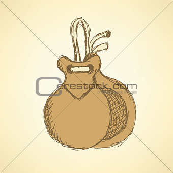 Sketch spanish castanet in vintage style