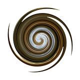 Spiral twisting rotation.