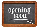 opening soon blackboard sign