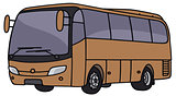 Brown bus