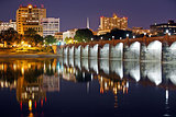 Harrisburg Pennsylvania at Night