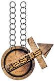Jesus - Wooden Symbol with Cross