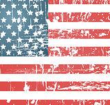 American flag vintage textured background