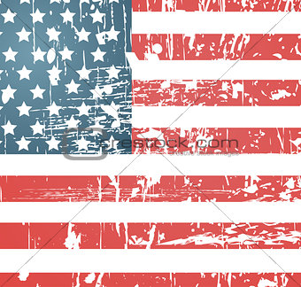 American flag vintage textured background