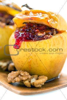 food; sweet; fruit; dessert; white; closeup; nut; plate; meal; a