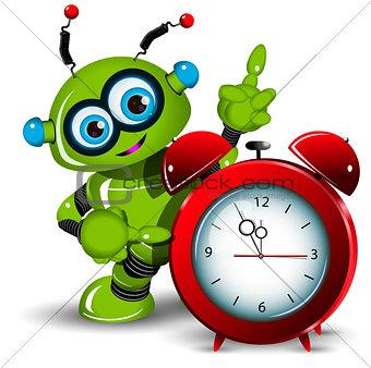 A robot and alarm clock