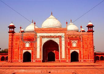 Masjid mosque near Taj Mahal mausoleum, Agra, India