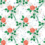 Seamless floral background, roses