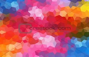 Bright Colored Mosaic Abstract Background