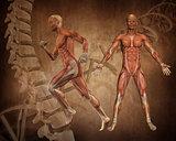Grunge style medical figure background