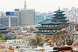 Gyeongbokgung, or the Palace of Felicitous Blessing, was the mai