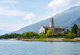 Lake Como (Italy) shore view.