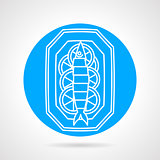 Prepared fish blue round vector icon