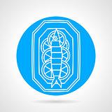 Prepared fish blue round vector icon